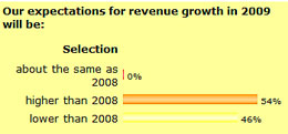 Survey December 08 - Our expectations for revenue growth in 2009 will be