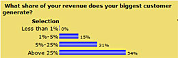What share of your revenue does your biggest customer generate
